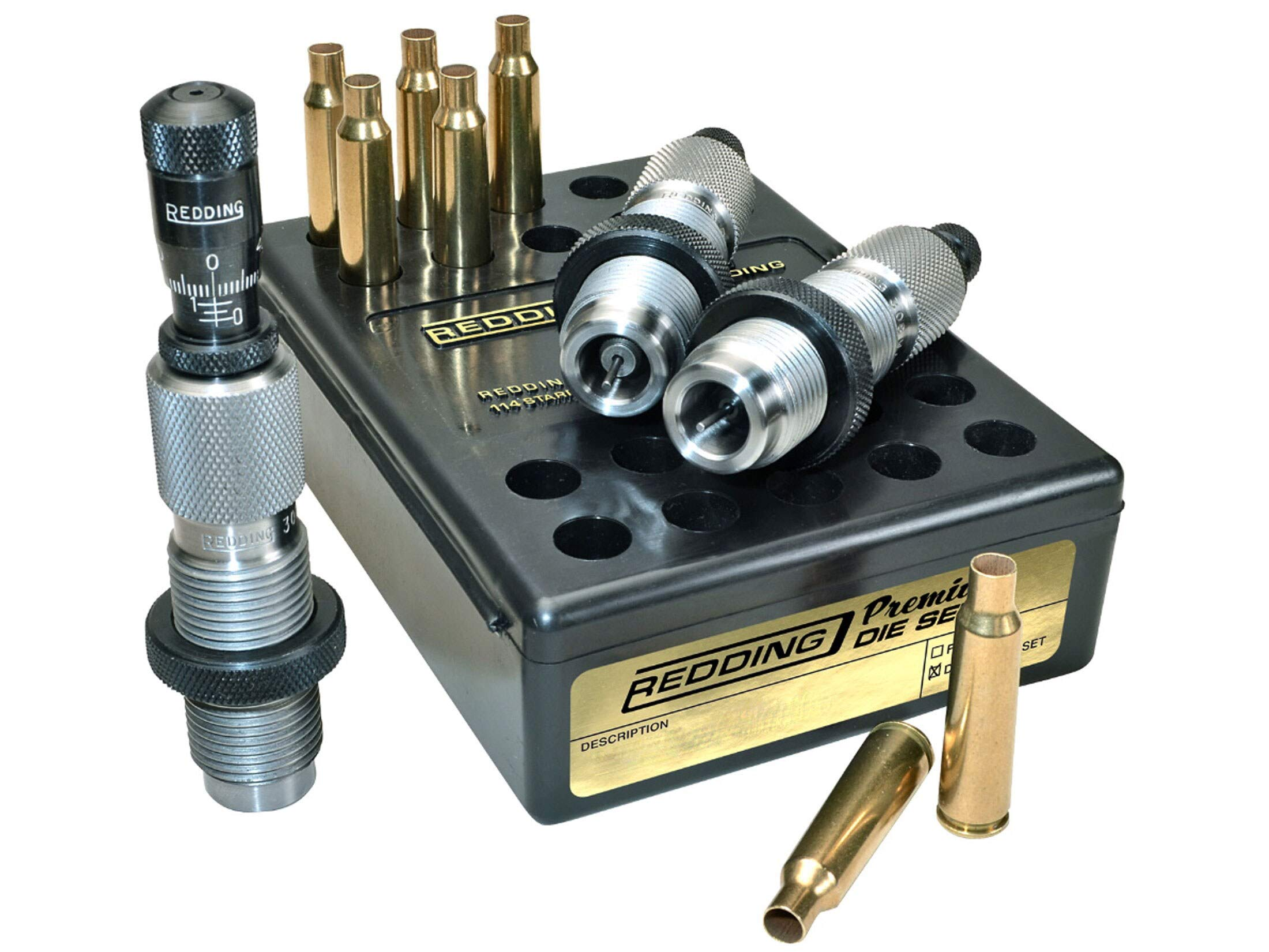 Redding Reloading Premium Series Deluxe Die Set - 6.5 Creedmoor, 68446 by Redding