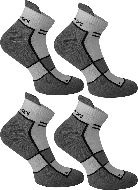 4 Paar Sneaker Running Laufsocken Funktionssocken mit Frotteesohle und Stützfunktion von normani®