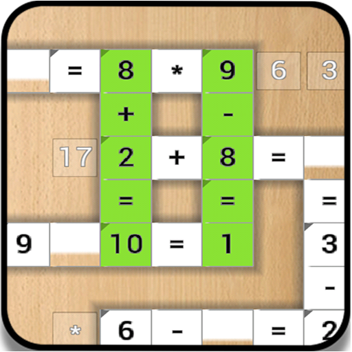 Crossnumber Puzzles (Cross Numbers - Cross Equate - math game)