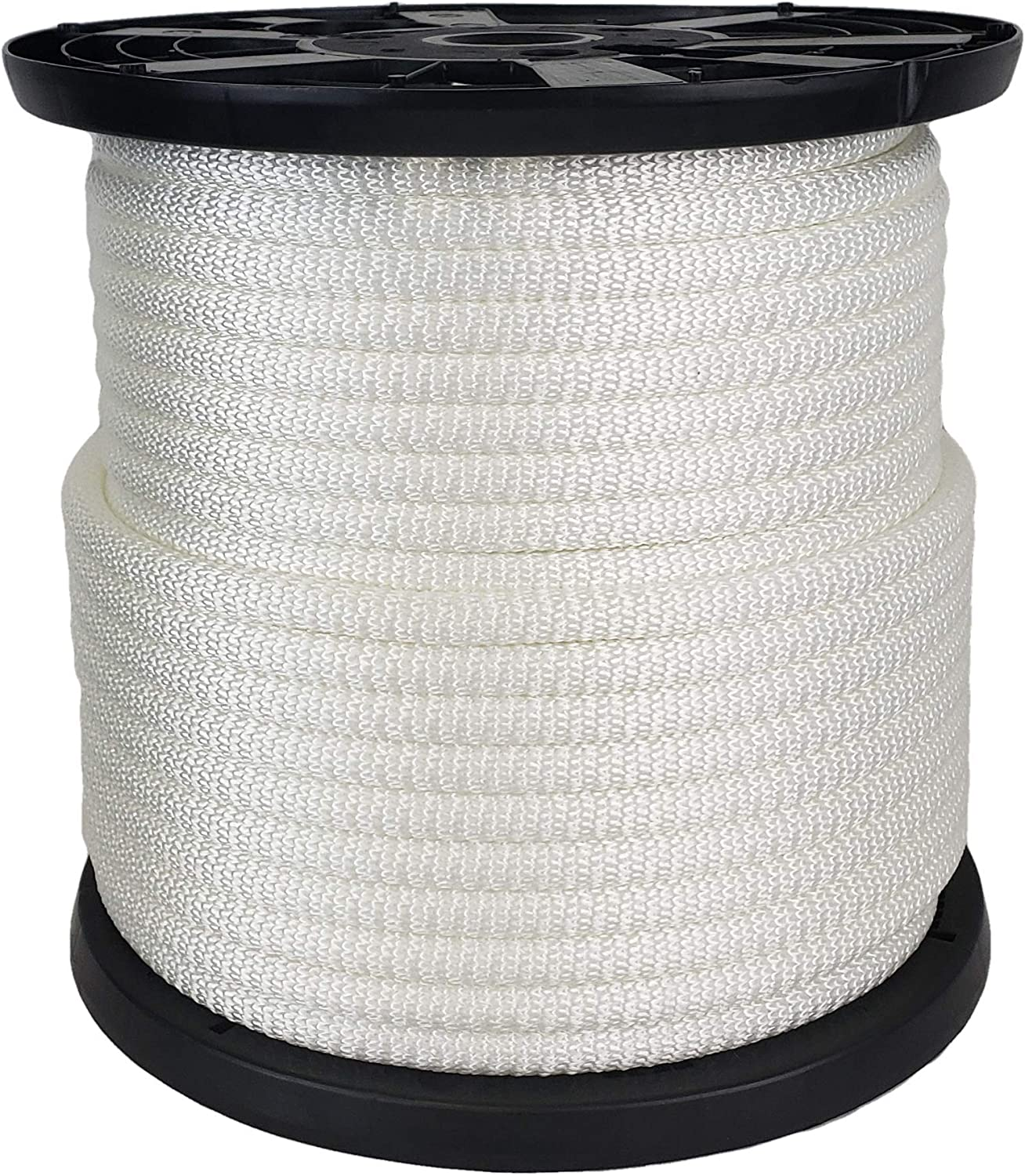 Industrial Grade 1//2 inch White Polyester Rope High UV and Abrasion Resistance 250 Foot Spool