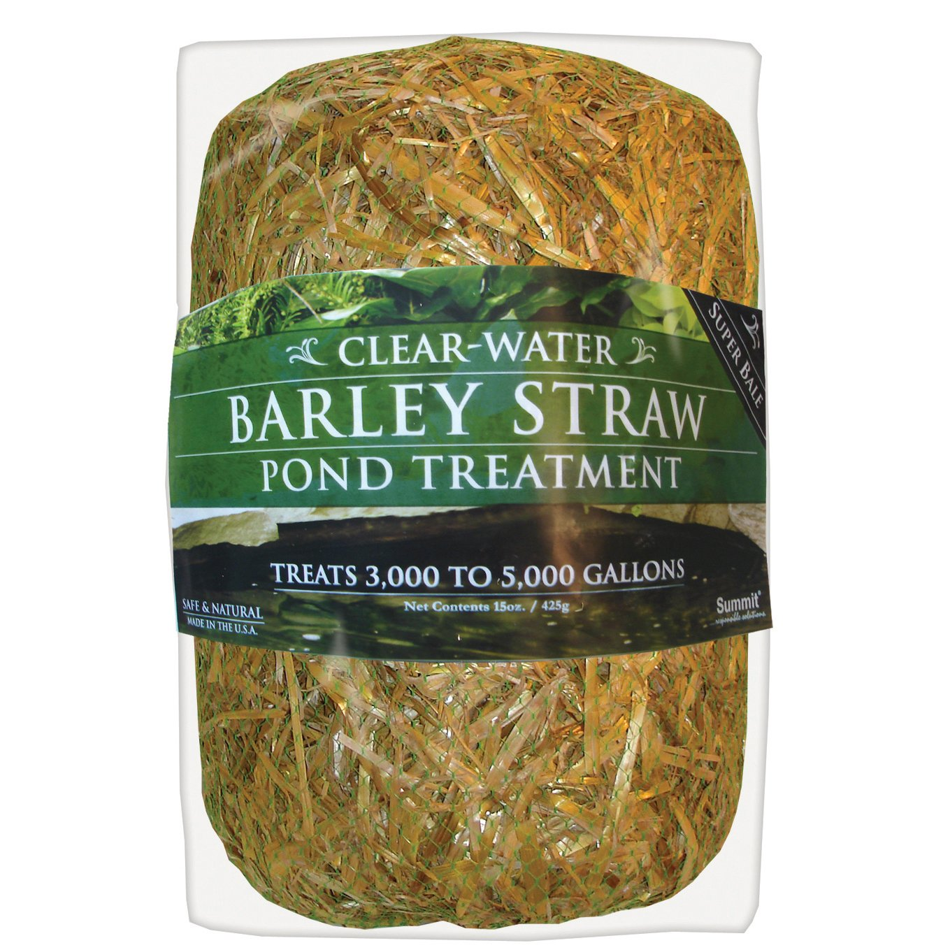 Summit 135 Clear-Water Barley Straw Bale 15 oz, Treats up to 5000-Gallons by Summit...responsible solutions
