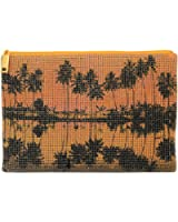 Whiting & Davis Palms Pouch Clutch