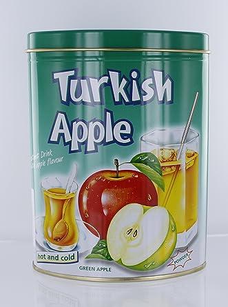 Türkischer Apfel Instantgetränk mit Apfelgeschmack grün 300g in Dose ...