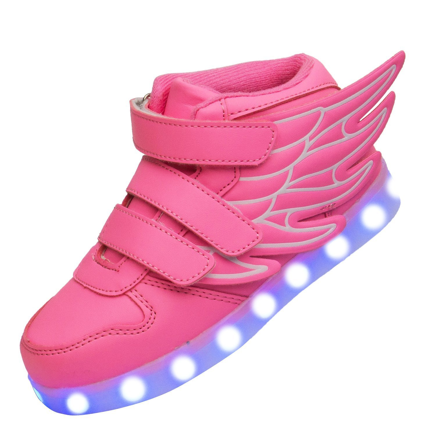 Summer new children's shoes wings USB children's leisure sports LED light shoes