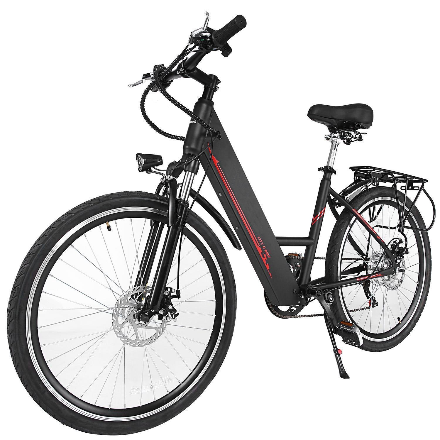 Benlet 26 Inch 36V 6-Speed Unsex Folding Outdoor Mountain Electric Bike, Outdoor Sports E-Bike with Aluminum Alloy Frame and Handlebar Display (Black)