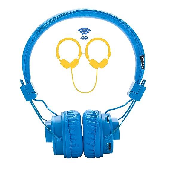Auriculares inalámbricos, Nia 5 en 1 Multifuncional Bluetooth Auriculares niños Auriculares, micrófono Incorporado, TF Tarjeta Reproductor, Radio FM, ...