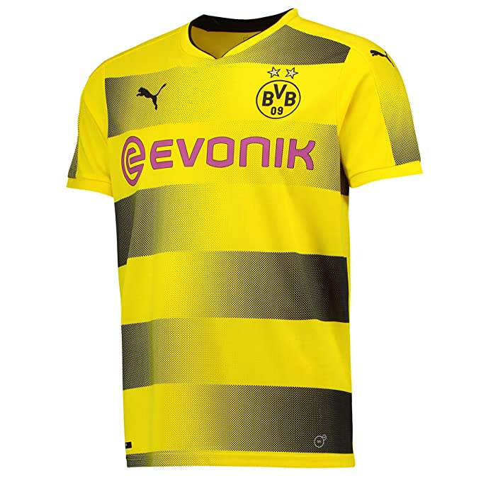 timeless design 8e5cd 320f5 Puma Men's Bvb Home Replica With Sponsor Logo Football Shirt