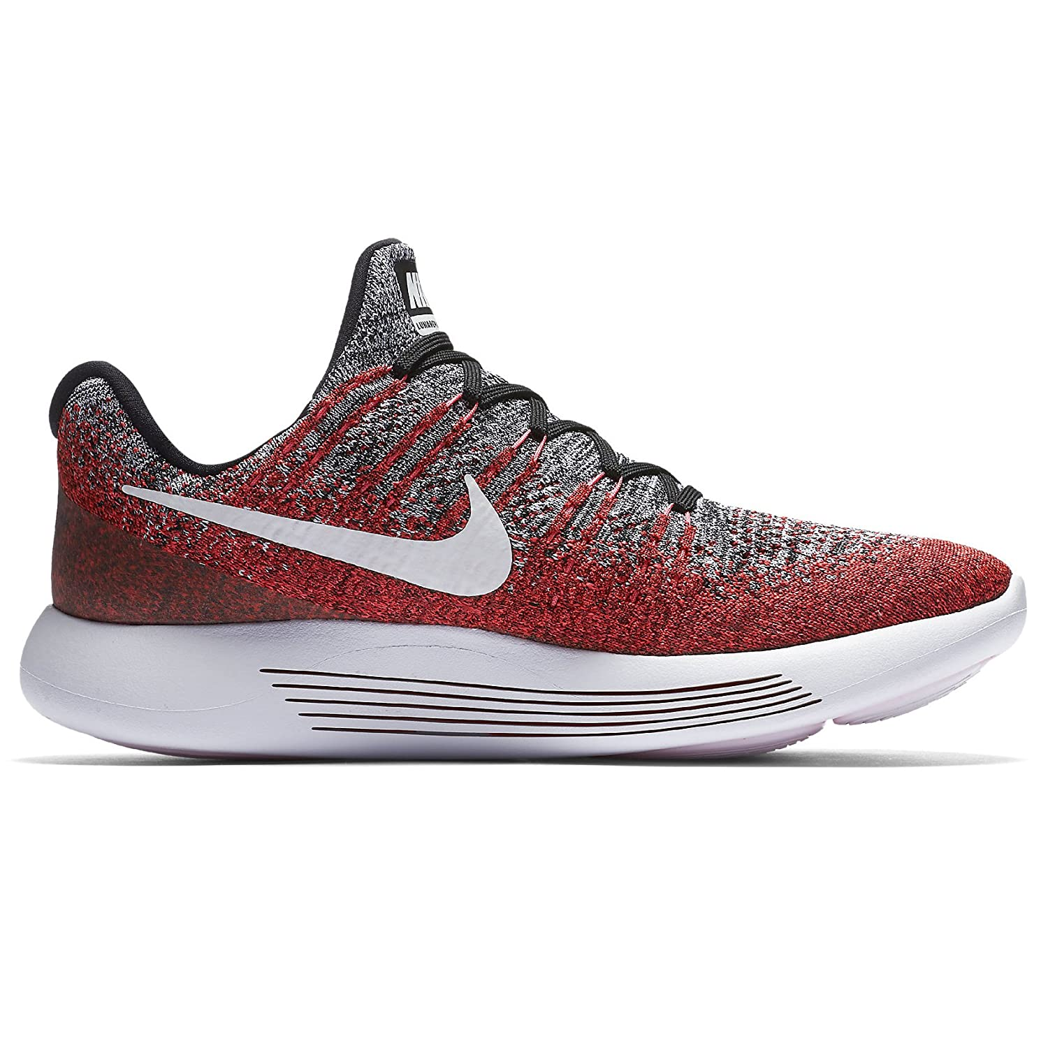 Amazon.com | Nike Lunarepic Low Flyknit 2 863779-005 Black/White/Hyper  Punch Mens Running Shoes (14) | Road Running