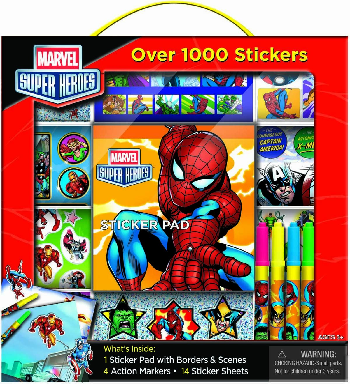 Bendon Marvel Super Heroes Sticker Box with Handle Activity Set