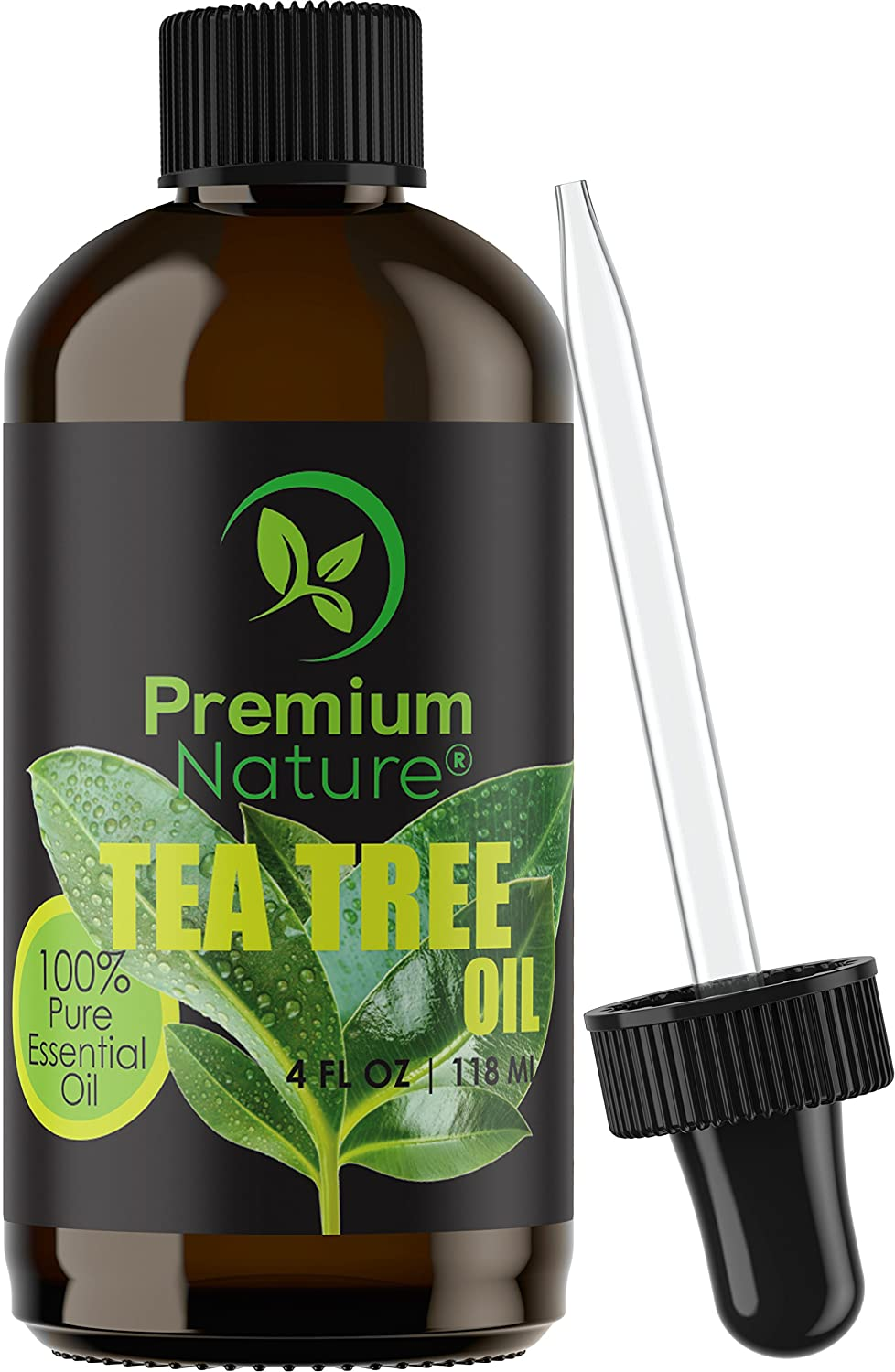 Tea Tree Pure Essential Oil - Natural Therapeutic Grade Aromatherapy Relaxation Body & Skin Tag Remover Essential Oils for Diffusers Humidifiers & Carrier Oil Toenail Nail Fungus Acne & Lice Treatment Premium Nature