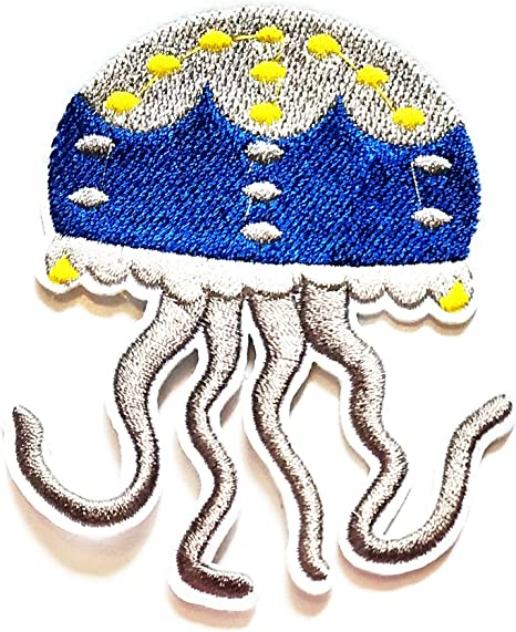 "BEACH /""UNDER THE SEA/"" OCEAN SEA CREATURES IRON ON EMBROIDERED PATCH"