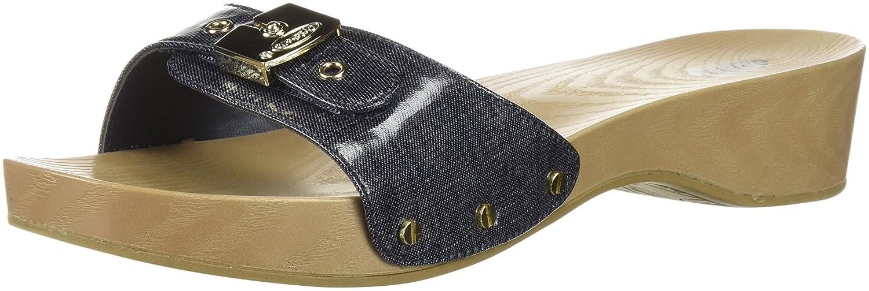 Dr. Scholl's Shoes Women's Classic Slide Sandal B0767TR7JY 9 B(M) US|Denim Fabric