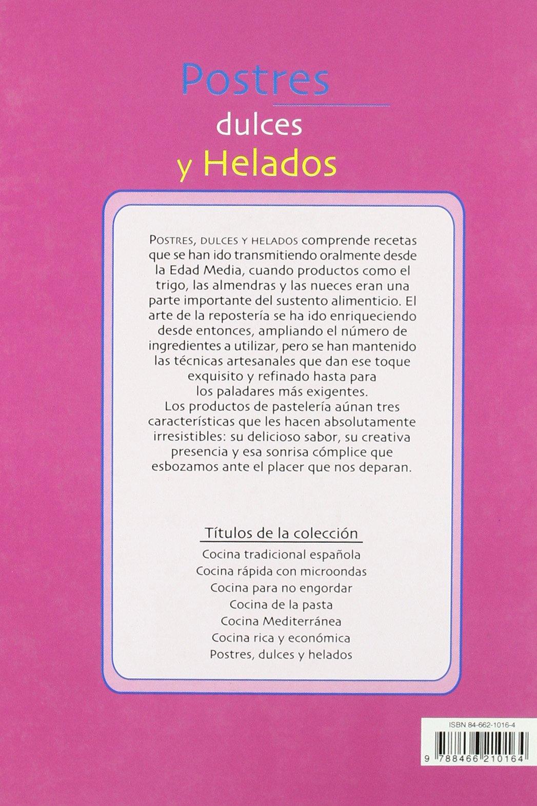 Postres, dulces y helados: GLORIA SANJUAN: 9788466210164: Amazon.com: Books