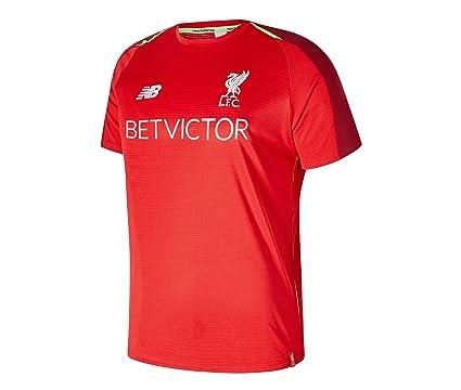 New Balance Men s Liverpool FC 2018-19 Shortsleeve Training Jersey (Racing  Red) ( 279ec94fd