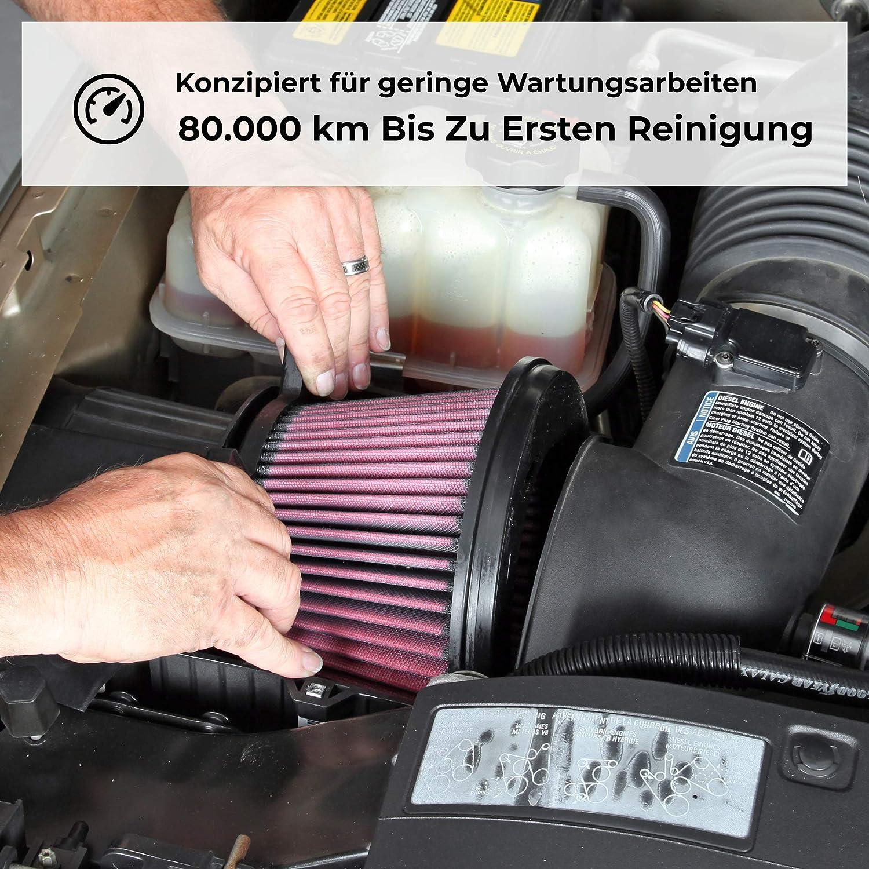 K/&N E-2994 Waschbarer und wiederverwendbarer KFZ Tauschluftfilter