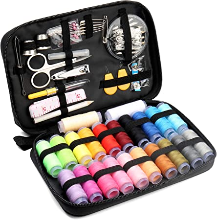 Qisiewell Kit de Costura 235 Piezas Accesorios de Costura Premium Costurero con 24 Carretes de Hilo para Uso Doméstico Adultos Niños el Viajes y Principiantes y emergencias: Amazon.es: Hogar