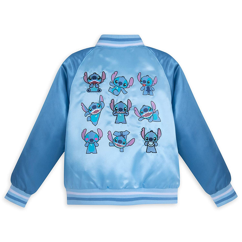 27ec0caa9 Amazon.com  Disney Stitch Varsity Jacket for Kids - Blue  Clothing