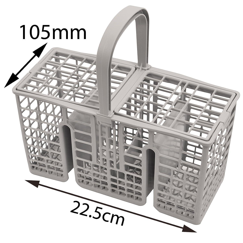 Spares2go 45 cm de largo delgado cubiertos cesta jaula para ...