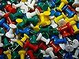 100 Punaise Colorés Plastique Papeterie Pour Tableau Liège