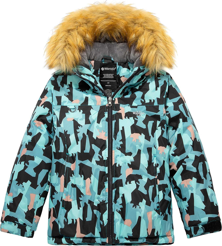 Wantdo Boys Waterproof Ski Jacket Fleece Windproof Winter Snow Coat
