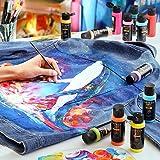Arteza Permanent Fabric Paint, 60 ml Bottles, Set