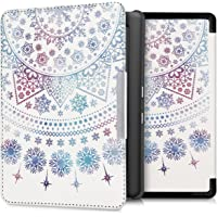 kwmobile Case for Kobo Glo HD/Touch 2.0 - Book Style PU Leather Protective e-Reader Cover Folio Case - Blue/Dark Pink/White