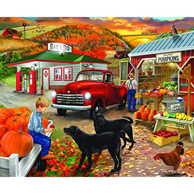 Roadside Stand 300 pc Jigsaw Puzzle by SUNSOUT INC: Toys & Games