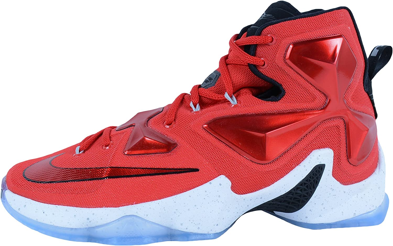 M Nike Mens  Lebron XIII Unvrsty Red//White//Blk//Lsr Orng Basketball Shoe US 9 D