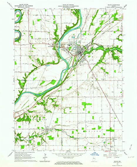 Amazon Com Yellowmaps Delphi In Topo Map 1 24000 Scale 7 5 X 7 5