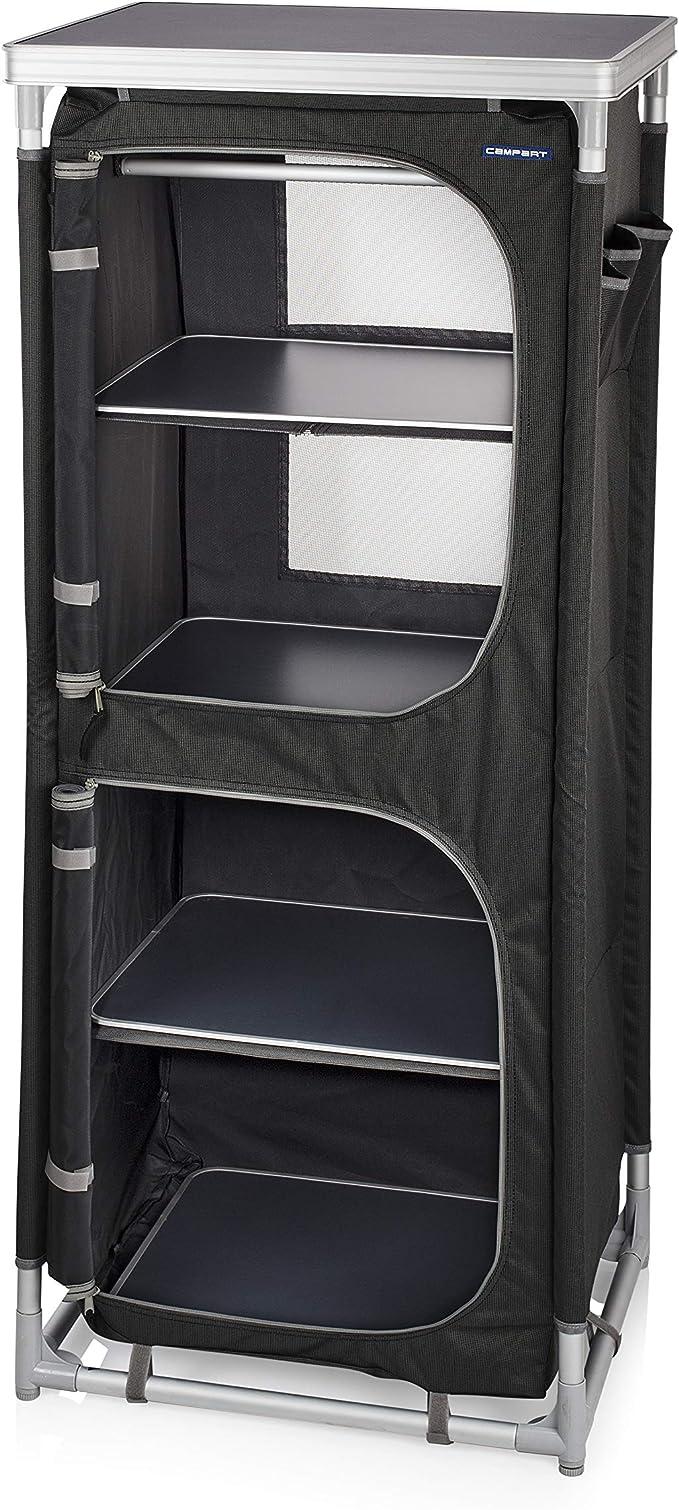 CAMPART Travel CU-0720 Camping Paris, Cuatro Compartimentos, También se Puede Usar Como Armario Ropero, 140 cm de altura, Gris: Amazon.es: Deportes y aire libre