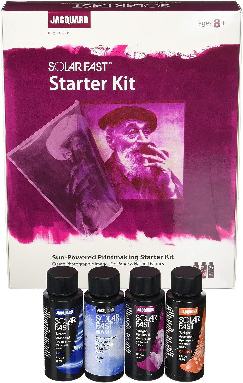 Jacquard JAC-JSD9000 Solar Fast Sun Powered Printmaking Starter Kit, Multicolor