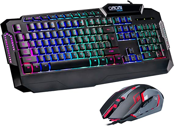 LED Gaming Keyboard and Mouse Combo