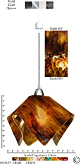 product image for Jezebel Signature Flame Track Lighting Pendant Large. Hardware: Nickel. Glass: Earth