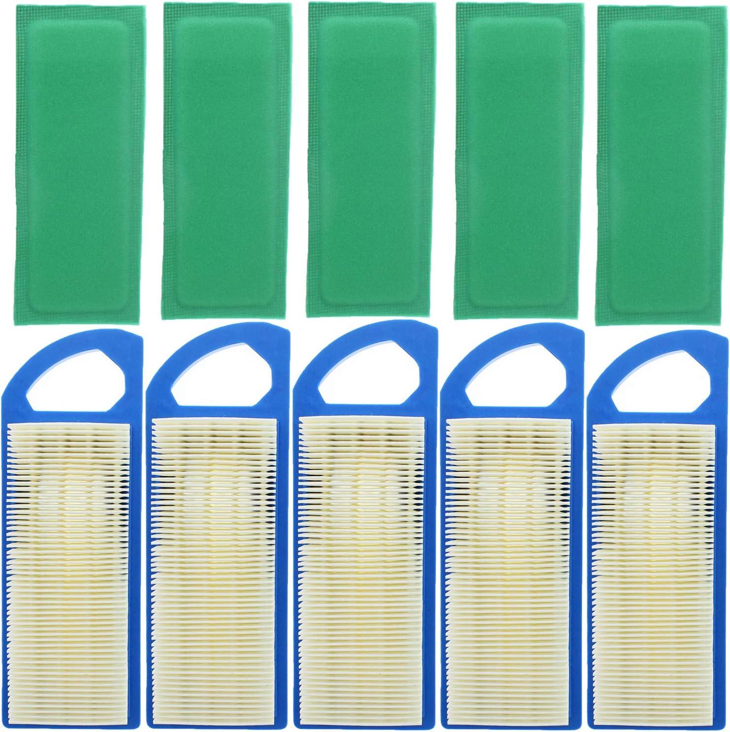 QAZAKY Air Filter Compatible for Briggs /& Stratton 653202 677014 697014 697015 697153 677014 695547 697014 697153 697634 697776 698083 794422 795115 797008 285H77 31E707 31E777 4211 4214 5077K 5077D