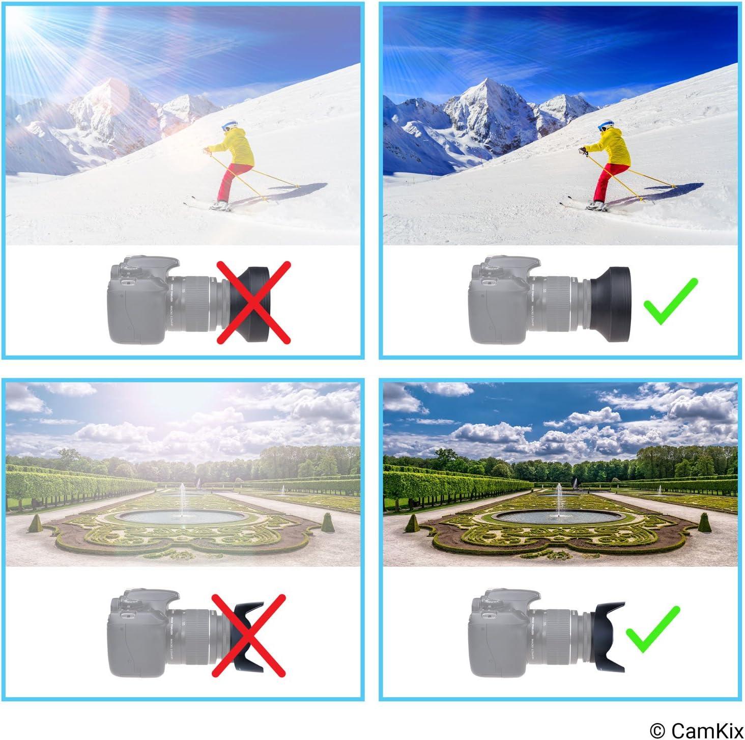 Reduce el Resplandor del Lente y el deslumbramiento Caucho Sombra de Sol Plegable Parasol de Objetivos: Tulipanes Flor Bloquea el Exceso de luz Solar para Mejorar la fotograf/ía y el Video