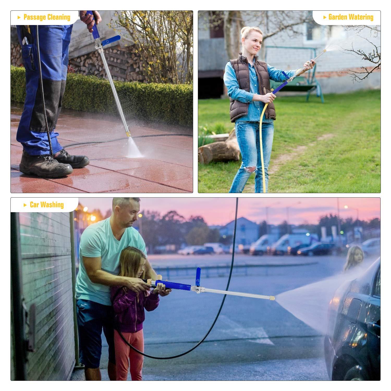 Hydro Water Jet Flexible Garden Hose Sprayer Home Garden Hose Pipe Wand Attachment 2 Tips Accessories Garden Hose Sprayer for Car Wash and Window Washing