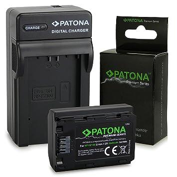 PATONA 3en1 Cargador con Premium Batería NP-FZ100 Compatible con Sony Alpha 9, 7 III, 7R III, 7RM3, Sony BC-QZ1