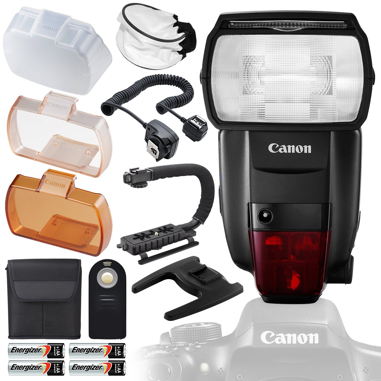 Canon Speedlite 600EX II-RT with Deluxe Accessory Bundle and Starter Kit by Canon