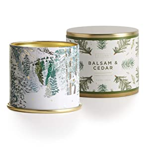 Illume Noble Holiday Collection Balsam & Cedar Vanity Tin, 11.8 oz Candle