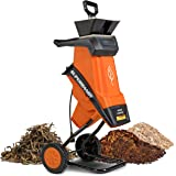 """SuperHandy Wood Chipper Shredder Electric 1.5"""" (39mm) Max Wood Capacity 17:1 Reduction 15A 1800W 120VAC Dual Edge Blades for"""