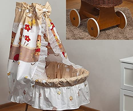 Conjunto de cama para la cesta moisés dosel de algodón+moisés con ruedas grandes (