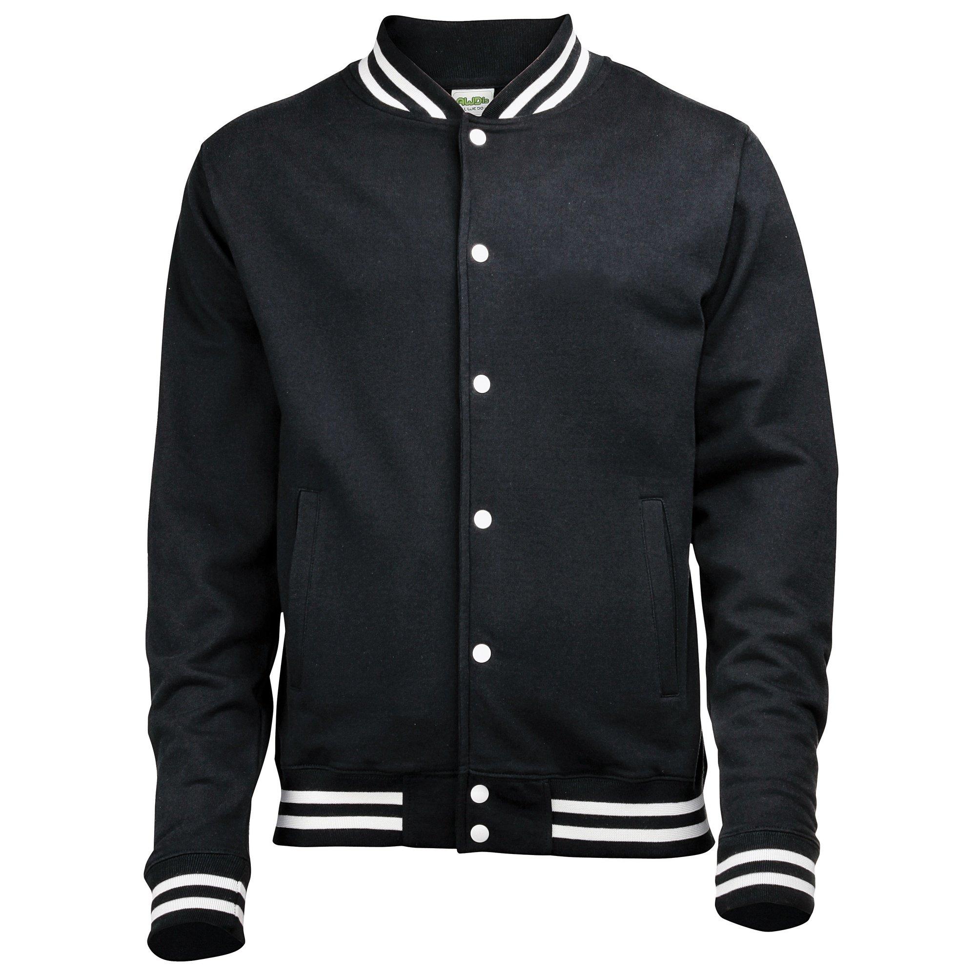 Awdis Mens College Jacket (M) (Jet Black) by Awdis
