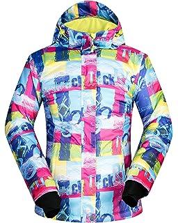 41d9e74ed3 Women s Ski Jacket Outdoor Waterproof Windproof Coat Snowboard Mountain  Rain Jacket Bright Colorful Print