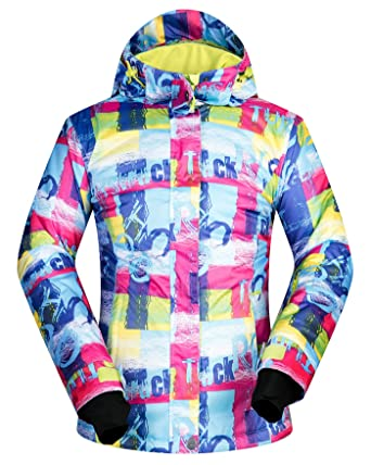 1b5414bdbb Women s Ski Jacket Outdoor Waterproof Windproof Coat Snowboard Mountain  Rain Jacket SJW007 Letter XS