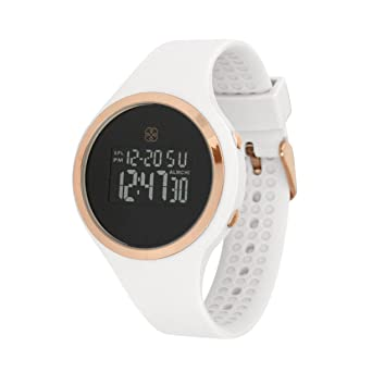 Daisy Fuentes Digital Wrist Watch for Women, Silicone Band