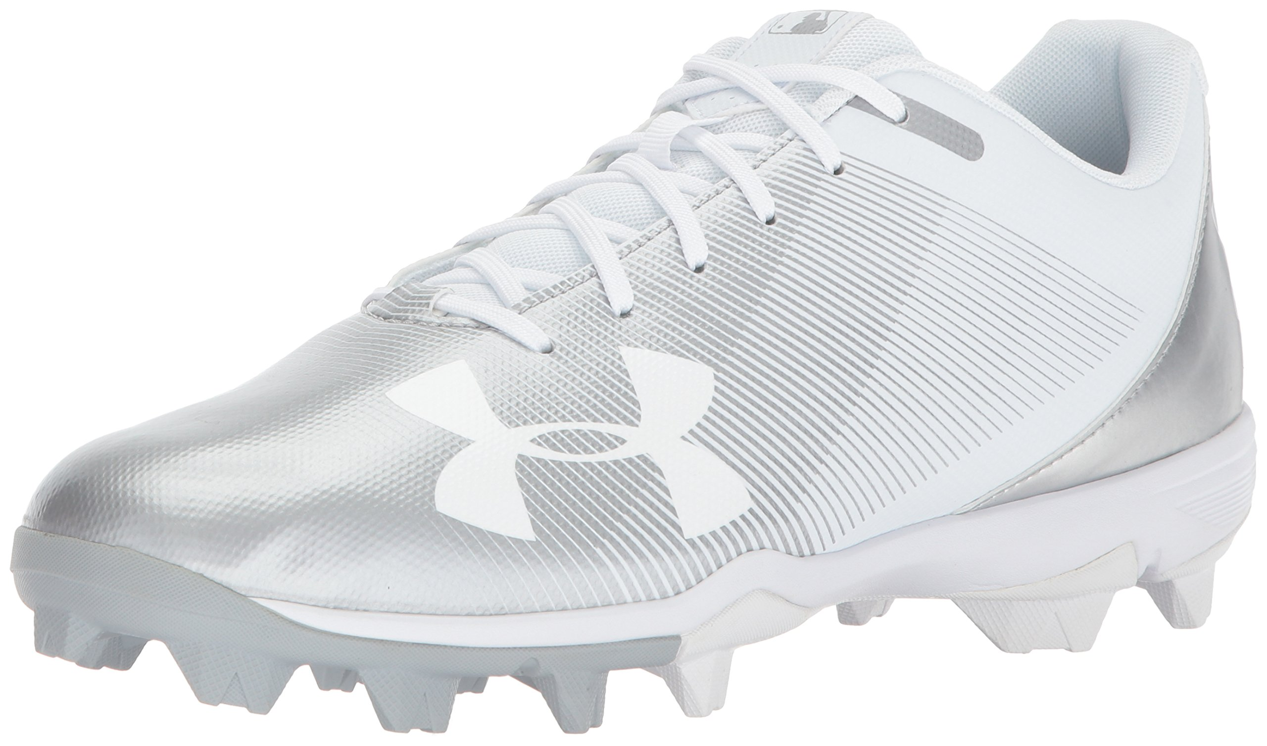 Under Armour Men's Leadoff Low RM Baseball Shoe, White (100)/White, 11 by Under Armour