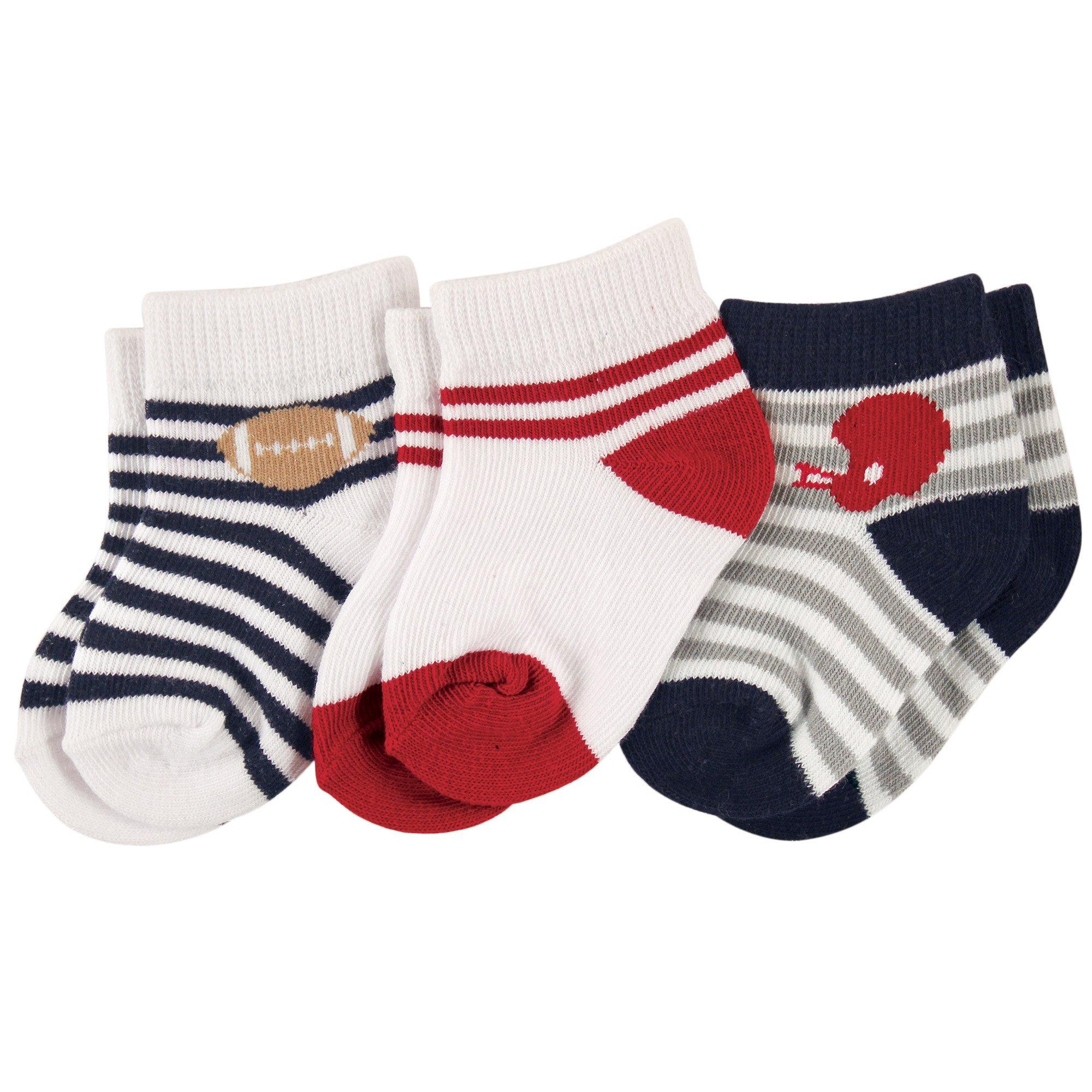 Luvable Friends Baby Basic Socks, Football
