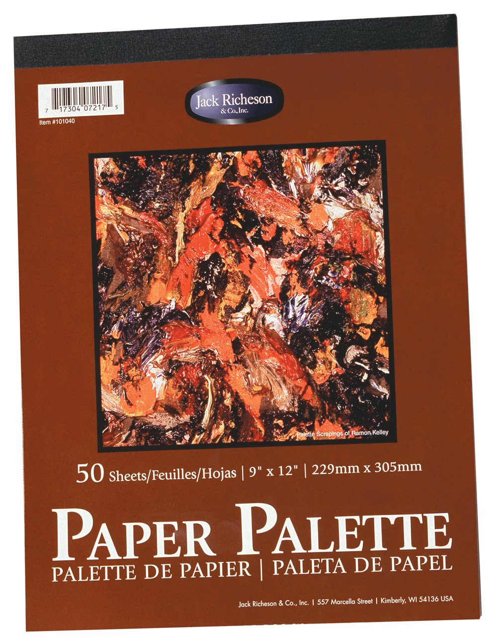 Jack Richeson 12-Inch-by-18-Inch Palette Paper Pad, 50-Sheet by Jack Richeson