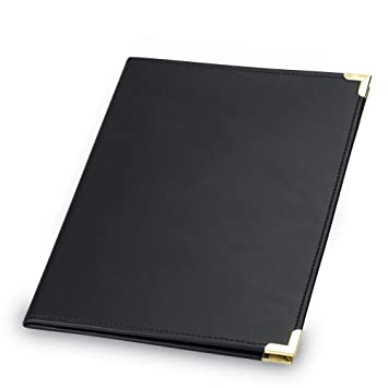 samsill classic collection business padfolio resume portfolio with brass corners 85 x 11 writing - Resume Folder