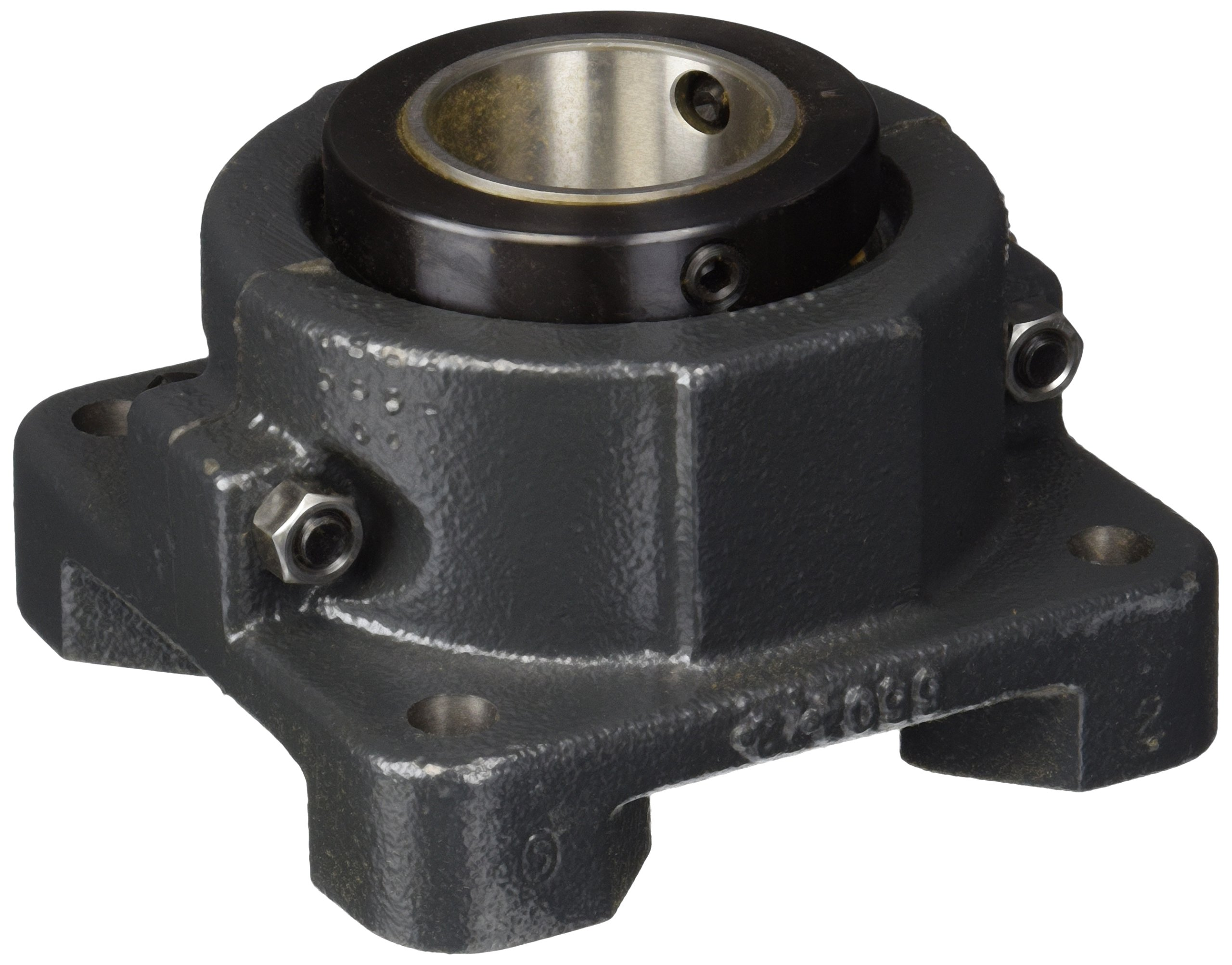Sealmaster RFB 200 Heavy Duty Flange Unit, 4 Bolt, Regreasable, Felt Seals, Double Concentric Clamp Collars, Cast Iron Housing, 2'' Bore, 5-5/8'' Overall Length, 4-3/8'' Bolt Hole Spacing Width, 1-3/16'' Flange Height